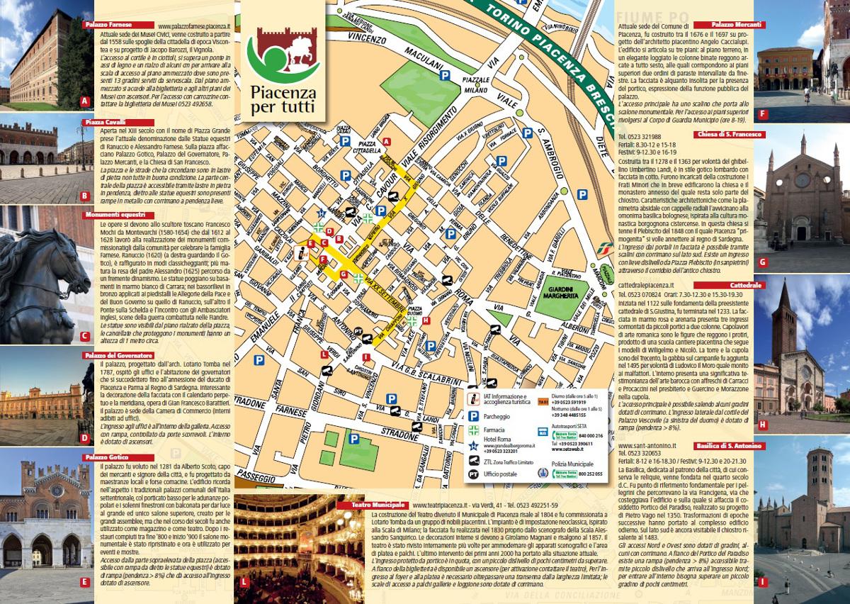 Cartina Roma Turistica.Mappa Piacenza Per Tutti Visit Piacenza